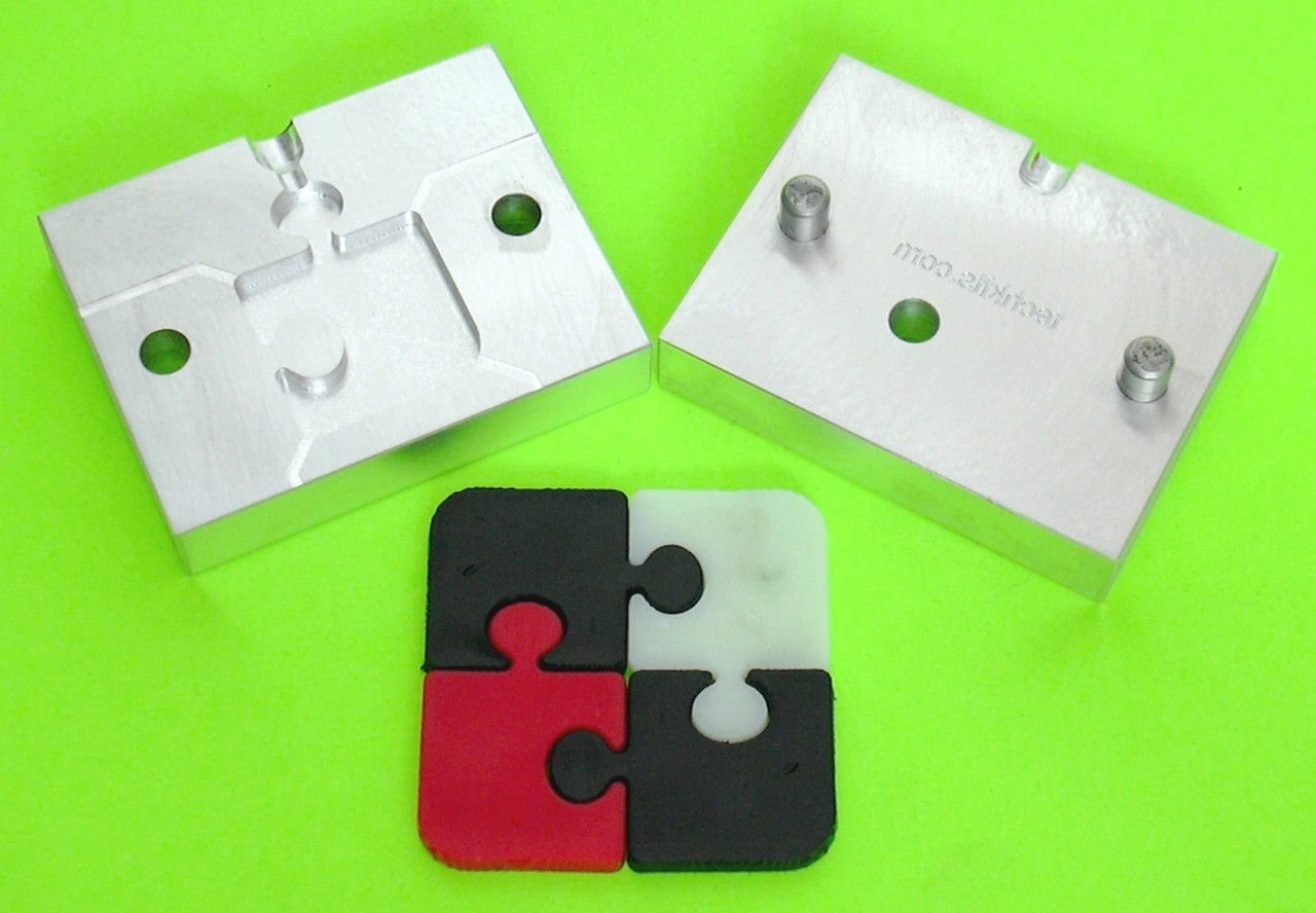 Puzzle aluminum mold for plastic injection molding